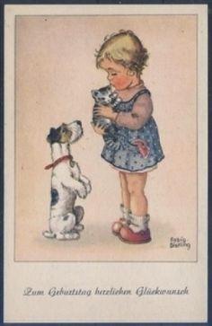 Künster KAART - Fabig Distling - Verjaardag (K00724), postzegels VERZENDEN Wereld - Postzegels, postkaarten overzees