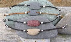 Cape Cod Beach Stone Bracelets by KEM Designs