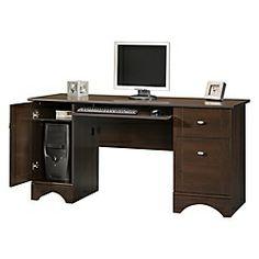 Sauder Appleton Faux Marble Top Executive Desk 30 23 32 Quot H