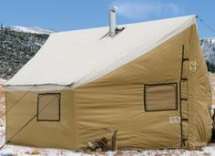 Cabela 39 s outfitter wall tents by montana canvas without for A frame canvas tents for sale