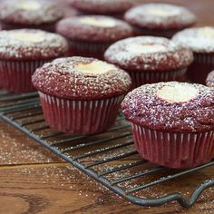Learn how to make muffins with this easy red velvet muffin recipe — full of red chocolate flavor with cream cheese frosting in every bite. This red velvet dessert is perfect for Valentine's Day, the holidays, or any occasion. Red Velvet Desserts, Red Velvet Recipes, Nutella, Red Velvet Muffins, Vanilla Cream Cheese Frosting, Simple Muffin Recipe, Chocolate Flavors, Red Chocolate, Muffin Recipes