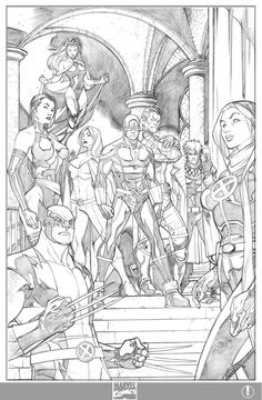 X-men 1 cvr variant-pencils by ElVlasco.deviantart.com on @deviantART