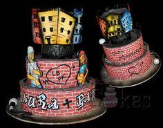 another graffiti cake