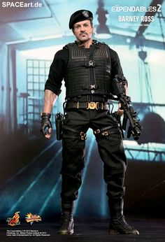 The Expendables 2: Barney Ross, Voll bewegliche Deluxe-Figur ... http://spaceart.de/produkte/exp002.php