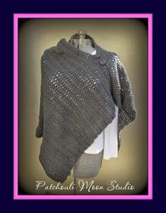 Crocheted Poncho (free pattern on Ravelry)