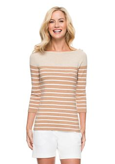 adbc0c337d66b JMcLaughlin Charter Sweater -- Camel stripes and a boatneck
