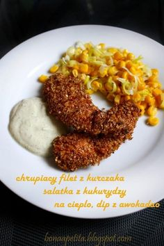 Crispy chicken breast, salad with corn on the heat, avocado dip! #cooking #diet #dinner #chicken