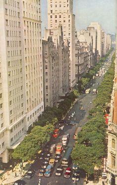 Avenida Rio Branco em 1954. I remember this..oh my God..I love it. Rio de Janeiro, Brasil