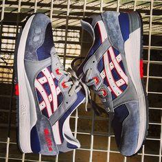 Asics Gel Lyte III Grey Navy Red #Sneakers
