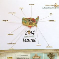 2014 Domestic Travel - Scrapbook.com- How cute are these travel themed wood veneers from Chic tags!
