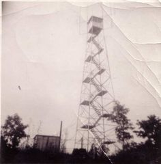Blair Mountain fire tower. My dad Elbert Luke Palmer worked in a fire tower much like this one, once when coal miners were on strike. It was located on Big A mountian in Virginia.