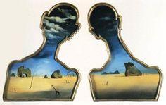 Dalì, Una coppia con le teste piene di nuvole, 1934