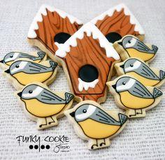 Jill FCS - birds and snowy birdhouses