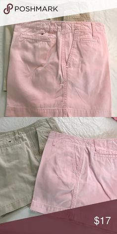 2 pairs of Tommy Hilfiger shorts One pink and one khaki short with 4 inch inseam Tommy Hilfiger Shorts