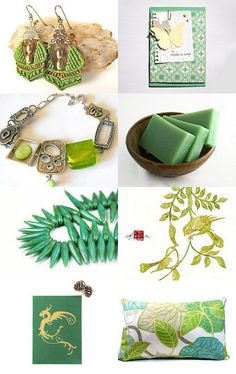 Shades of Green by Carol Schmauder on Etsy--Pinned with TreasuryPin.com