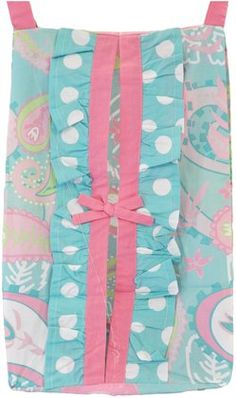 My Baby Sam Pixie Baby Diaper Stacker - Aqua/ Pink