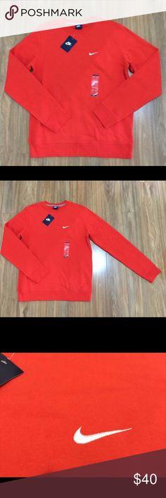 NIKE MENS CREW NECK SWEATER Red long sleeve Nwt Nike Sweaters Crewneck