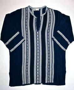 Vintage Greek Mens Tunic Style Shirt Made in by VintageMensGoods, $60.00