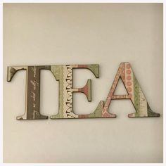 Tea Word Cafe Wooden Shabby Chic Wall Art Country Unique Handmade Besp – The Renmy Store