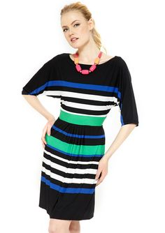 The way these stripes are colored and organized, it could give ANYONE a waist.
