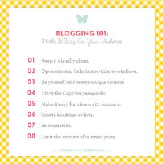 Blogging 101 | Make It Easy On Your Audience via Stephanie Creekmur