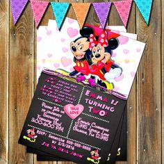 MINNIE MICKEY MOUSE Invitation-Minnie by MyPrintablePartyLine