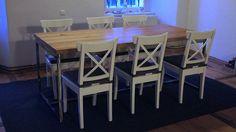 """Tavoli da pranzo - Table, office desk, """"Industrial Oak Dining... - un prodotto unico di projektdrewno su DaWanda"""