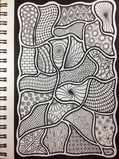 Zentangle | By: PLHill -- Original Doodle (April 2013) | Sensational64 | Flickr