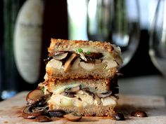 Chicken Mushroom Marsala Mozzarella Grilled Cheese