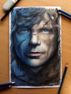 Tyrion Lanni Color Pencil Drawing / Game of Throne by *AtomiccircuS