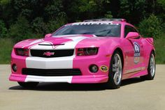 I WANT THIS CAR!!!!  CHEVROLET-This weekend's NASCAR Sprint Cup Series AdvoCare 500 will be paced by this pink Camaro SS featuring the Making Strides Against Breast Cancer logo.