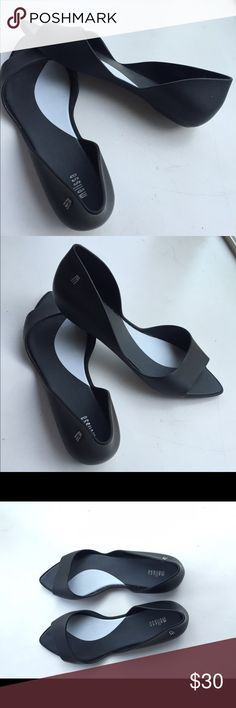 Black melissa flats Black slip on flats. Melissa Shoes Flats & Loafers