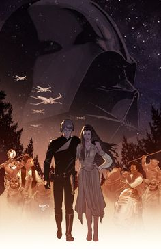 Game Stop exclusive cover for STAR WARS: Shattered Empire No.1 by Paul Renaud
