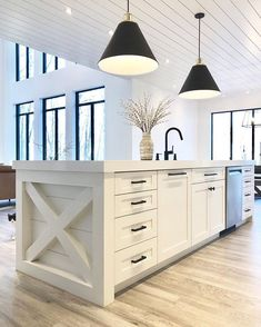 19 Creative Corner Kitchen Plans - Home Remodeling Kitchen – The plan and arrangement of the kitchen is more crucial than most peopl - Farmhouse Kitchen Cabinets, Modern Farmhouse Kitchens, Kitchen Cabinet Design, Home Kitchens, Rustic Kitchen, Remodeled Kitchens, Soapstone Kitchen, Country Kitchens, Kitchen Cupboard