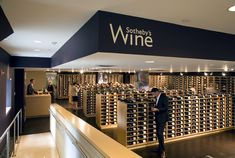 Sotheby's auction house has now entered the retail wine business by opening a new retail wine store on the ground floor of its New York headquarters, the space that earlier belonged to Alden Cellars. Description from bornrich.com. I searched for this on bing.com/images