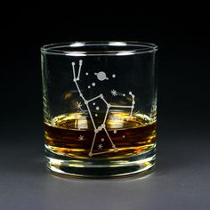 Orion Constellation Lowball Glass