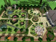 Проект приусадебного парка в регулярном стиле.