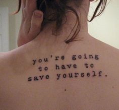 Sorry, but its true, no one will ever be able to save you. It will be your decision to pick and and get along. No one can do it for you.