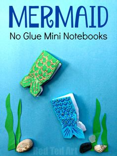 Mermaid Mini Notebook No Glue. Cute and easy Mermaid Notebook DIY for Back to School and BFFs! Learn how to make these mini notebooks #mermaid #mermaids #mininotebooks #notebooks #backtoschool #bff