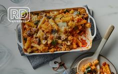 Veggie-Packed Baked Ziti Pasta Recipes, Diet Recipes, Vegetarian Recipes, Cooking Recipes, Healthy Recipes, Healthy Meals, Yummy Recipes, Healthy Food