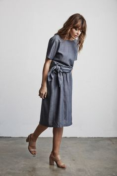Vetta Capsule SS16 The Tunic Tied + The Skirt from the Two Piece Dress