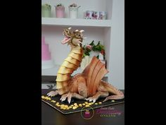 How to Make a Dragon Cake with Fire Blowing - YouTube