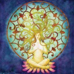 lotus meditation mandala