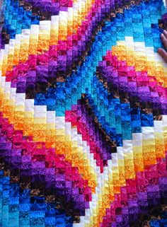 Colorful bargello