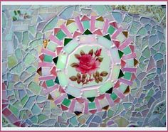 Fancy Mosaic table details ~by Sondra, Traders of the Lost Art 1