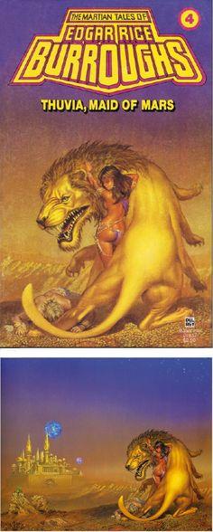 MICHAEL WHELAN - Thuvia Maid of Mars by Edgar Rice Burroughs - 1979 Del Rey Books