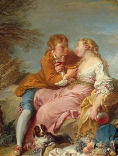 Francois Boucher (1703 – 1770) Pastoral Scene,...