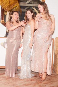 Sparkle and shine all night long in these glittering party dresses, perfect for any event! | #partydress #golddress #holidaydress #silverdress #rosegolddress | Style 21793, 2262X, 21936 | Shop these styles and more at davidsbridal.com Metallic Party Dresses, Holiday Party Dresses, Silver Dress, Gold Dress, New Years Eve Dresses, Bridesmaid Dresses, Wedding Dresses, Event Dresses, Davids Bridal