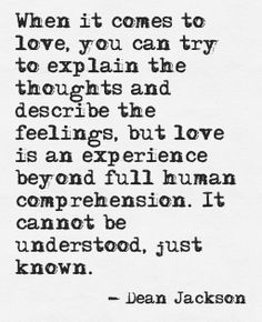 The Experience of Love ~ Dean Jackson