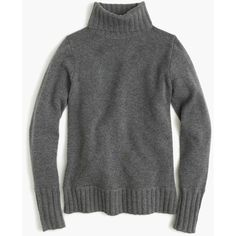 J.Crew Ribbed turtleneck in Italian cashmere ($298) ❤ liked on Polyvore featuring tops, sweaters, ribbed top, long sleeve tops, tissue turtleneck, ribbed turtleneck and slim fit sweaters